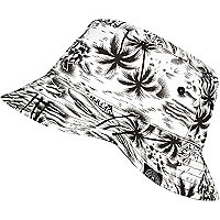 Boys white Hawaiian print bucket hat
