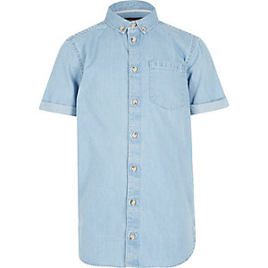 Boys light blue denim shirt