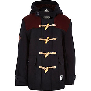 Boys navy Bellfield duffle coat