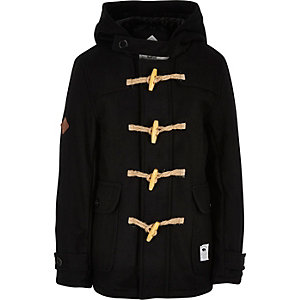 Boys black Bellfield duffle coat