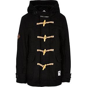 Boys black Bellfield duffle coat