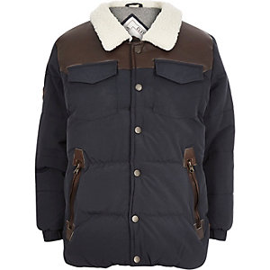 Boys navy Bellfield padded coat