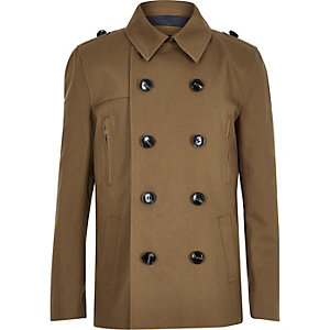 Boys stone mac coat