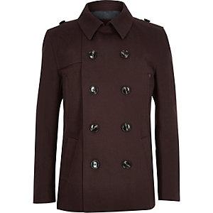 Boys dark red mac coat