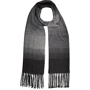Boys grey faded woven scarf