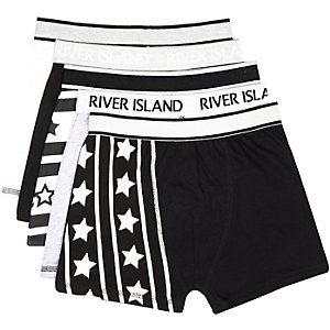 Boys black boxer shorts pack