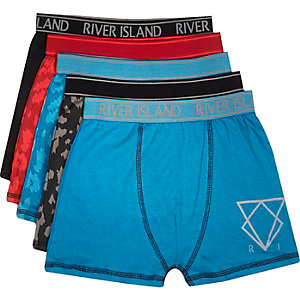 Boys blue boxer shorts pack