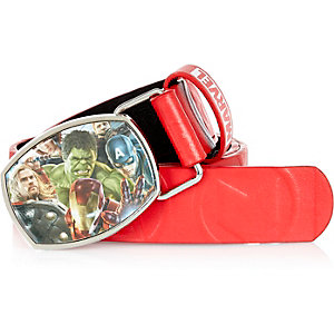 Boys red Marvel belt