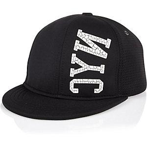 Boys black neoprene NYC cap