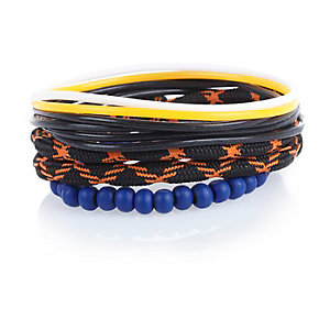 Boys orange gummy bracelet set