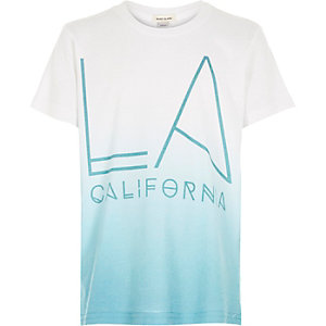 Boys blue faded LA print t-shirt
