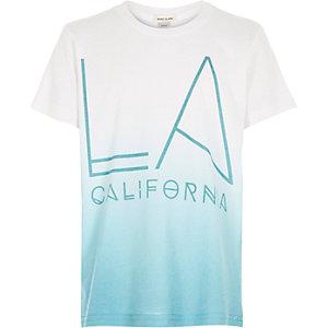 Boys blue faded LA print t-shirt