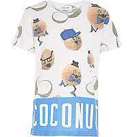 Boys blue coconut print t-shirt