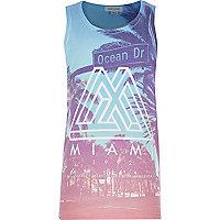 Boys blue Miami print vest