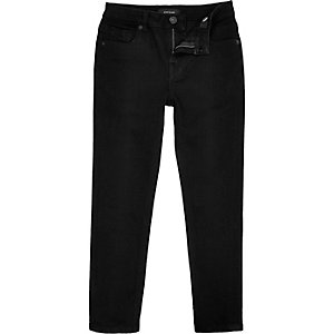 Boys black Dean straight jeans