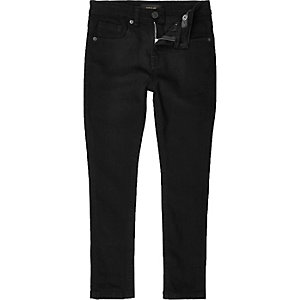 Boys black Sid skinny stretch jeans