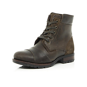 Boys brown worker boots