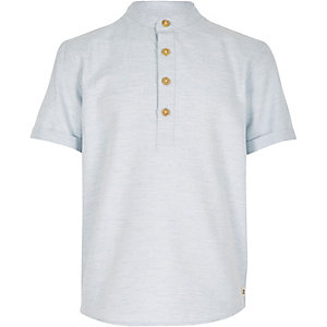 Boys light blue overhead shirt