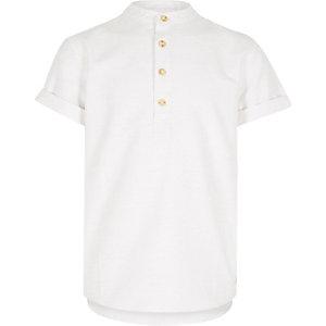 Boys white overhead shirt