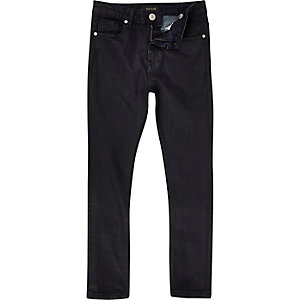 Boys blue coated skinny jeans