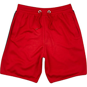 Boys red mesh jersey shorts