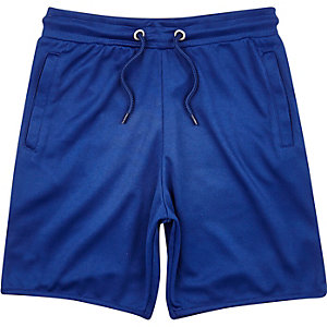 Boys blue mesh jersey shorts