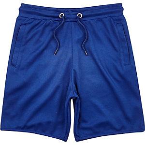 Boys blue mesh jersey shorts
