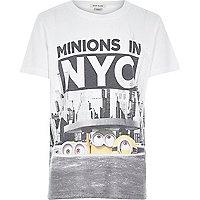 Boys white Minions print t-shirt
