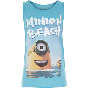 Boys blue Minion print vest