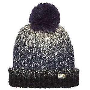 Boys blue faded bobble hat