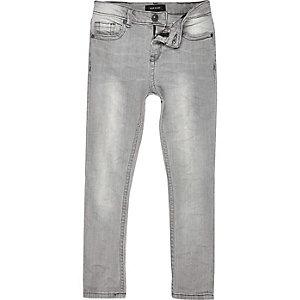 Boys grey Sid skinny jeans