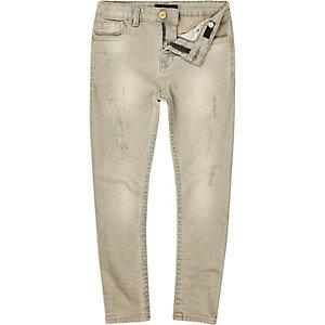 Boys grey distressed Sid skinny jeans