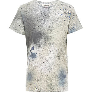 Boys grey paint splatter t-shirt