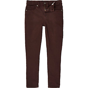 Dark red Sid skinny stretch jeans
