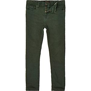 Boys green Sid skinny stretch jeans