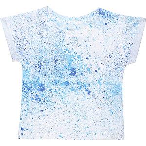 Mini boys blue paint splatter t-shirt