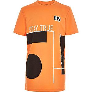 Boys orange foil print t-shirt