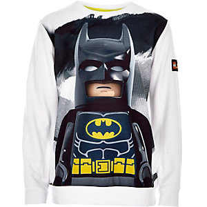 Boys white Lego Batman sweatshirt