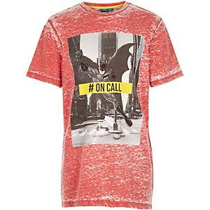 Boys red Batman print t-shirt