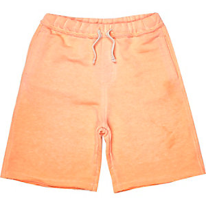 Boys orange burnout jersey shorts