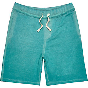 Boys blue burnout jersey shorts