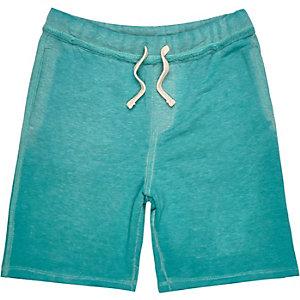Boys blue burnout jersey shorts