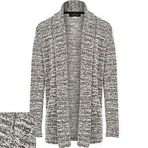 Boys grey marl cardigan