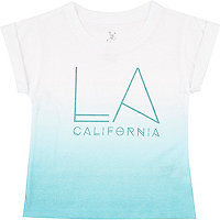 Mini boys blue faded LA print t-shirt