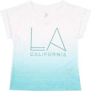 Mini boys blue faded LA print t-shirt