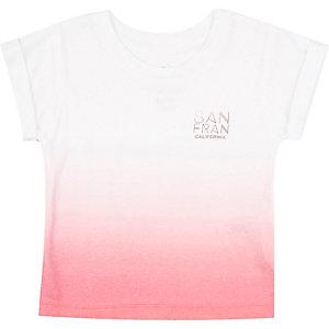 Mini boys red faded San Fran print t-shirt