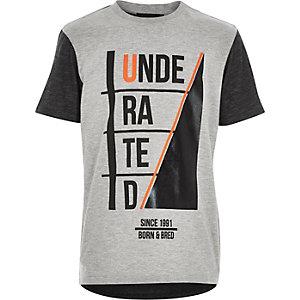 Boys grey underated print t-shirt