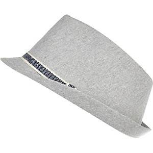 Boys light grey trilby hat