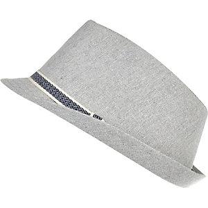 Boys light grey trilby hat