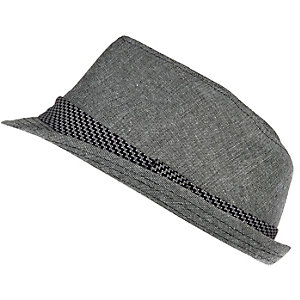 Boys black trilby hat